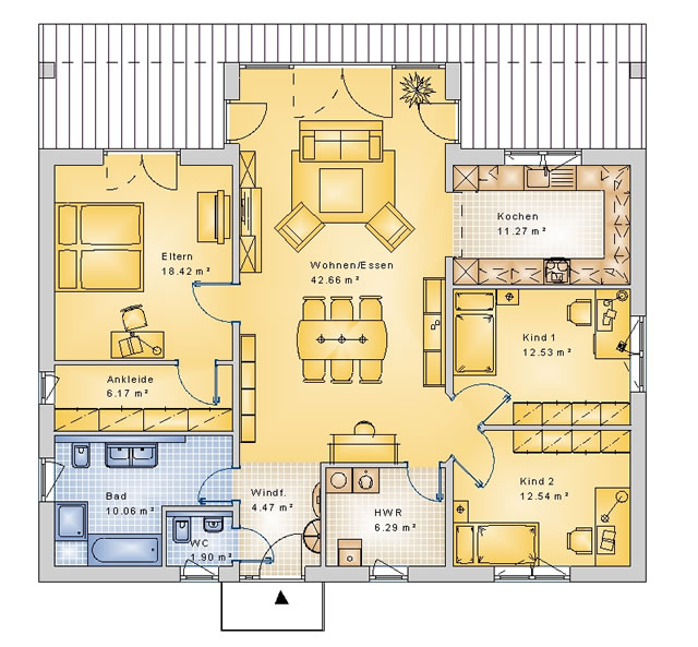 Bungalows Swh Hausbau Gmbh Cottbus Bungalow Einfamilienhaus Massivhaus Haus Bauen Architekt Cottbus Dresden Weisswasser